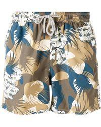 Etro - Camouflage Drawstring Swim Shorts - Lyst