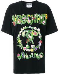 Moschino - Logo Patch T-shirt - Lyst
