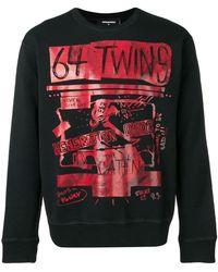 DSquared² - '64 Twins' Sweatshirt mit Print - Lyst