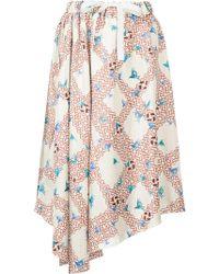 Astraet - Lattice Bird Print Skirt - Lyst