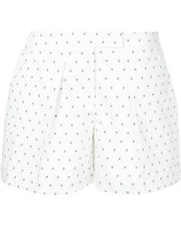 Jil Sander Navy - Micro-print Pleated Shorts - Lyst