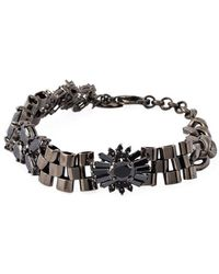 Iosselliani - 'black On Black Memento' Bracelet - Lyst
