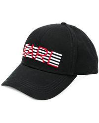 Karl Lagerfeld - K Striped Hat - Lyst