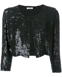P.A.R.O.S.H. | Cropped Sequin Cardigan | Lyst