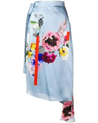 Preen By Thornton Bregazzi - Nadine Sketchbook Floral Skirt - Lyst
