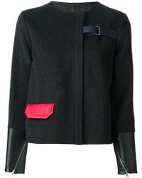 Jamie Wei Huang - Contrasting Cuffs And Pocket Straight Jacket - Lyst