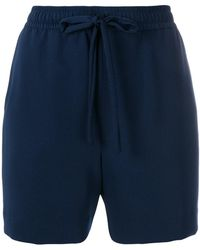 P.A.R.O.S.H. - Bow-detailed Drawstring Shorts - Lyst