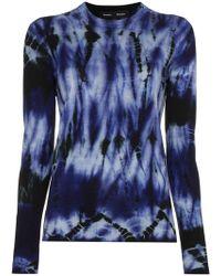 Proenza Schouler - Merino Wool Tie Dye Crewneck Top - Lyst
