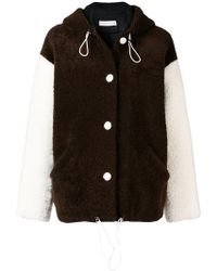 Inès & Maréchal - Contrasting Sleeve Shearling Jacket - Lyst