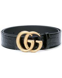 a02709a9778 Gucci Dragon Buckle Belt in Black for Men - Lyst