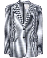 In Comme Garçons Multi Gray One Gingham Des Button Jacket Check Rose 66rwpzqx