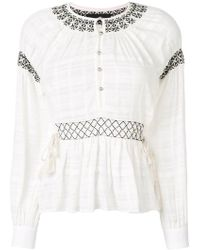 Diesel Black Gold - Embroidered Buttoned Blouse - Lyst
