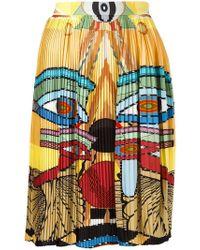 Givenchy - Egyptian Print Pleated Skirt - Lyst