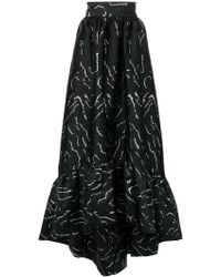 Christian Pellizzari - Long Printed Skirt - Lyst