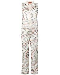 Missoni - Irregular Stripe Print Jumpsuit - Lyst