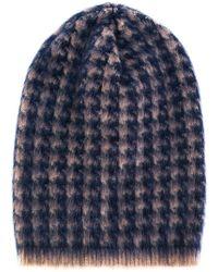 Lardini - Printed Knit Beanie - Lyst