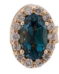 Alison Lou - 14kt Gold Gemstone Stud Earrings - Lyst