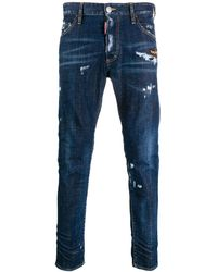 DSquared² - Distressed Tapered Jeans - Lyst