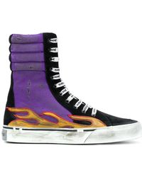 Palm Angels - Flames Distressed Super-high Trainers - Lyst