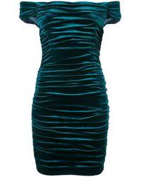 Aidan Mattox - Gathered Mini Dress - Lyst
