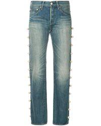 Tu Es Mon Tresor - Side Pearl Jeans - Lyst