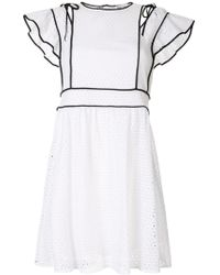 09756232c2 Dolce & Gabbana Rose Embroidered Netted Dress With Fringe Trim in ...