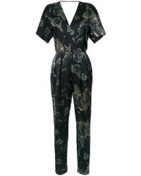 Andrea Marques - V-back Printed Jumpsuit - Lyst