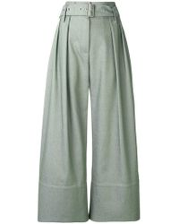 Eudon Choi - Cropped Palazzo Trousers - Lyst
