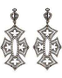 Loree Rodkin - 'shadow Cross' Diamond Earrings - Lyst