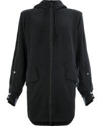 Ann Demeulemeester - Oversized Zip-up Hoodie - Lyst