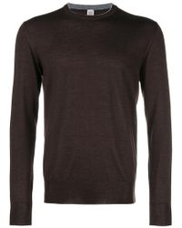 Eleventy - Crew Neck Fitted Sweater - Lyst