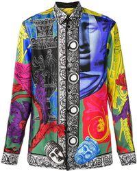 Versace - Magna Grecia Print Shirt - Lyst