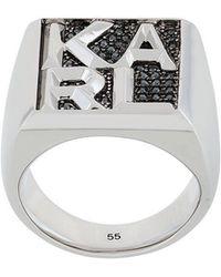 Karl Lagerfeld - Karl Block Ring - Lyst