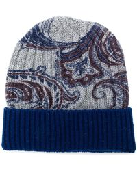 Etro - Paisley-print Knit Beanie - Lyst