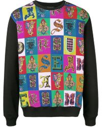 Versace - Langarmshirt mit barockem Print - Lyst