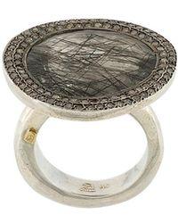 Rosa Maria - Black Rutilated Quartz And Diamond Ring - Lyst