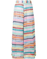 Missoni - Cropped Wide Leg Trousers - Lyst