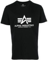 Alpha Industries - Logo Print T-shirt - Lyst