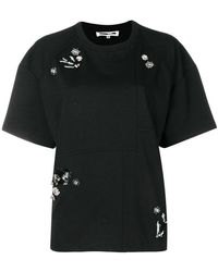 McQ - Camiseta con motivo de golondrinas y diamantes - Lyst