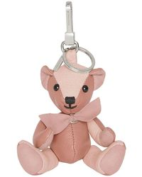 Burberry Thomas Bear Charm In Leather