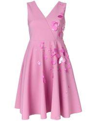 MSGM - Embellished Flared Mini Dress - Lyst