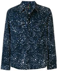 PS by Paul Smith - Paint Splash Print Shirt Jacket - Lyst