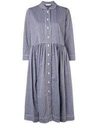 Peter Jensen - Striped Smock Shirt Dress - Lyst