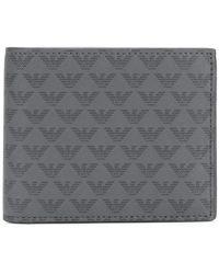 Emporio Armani - Eagle-print Bifold Wallet - Lyst