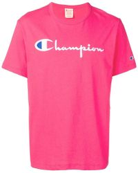 30fdc82a Champion Plain T-shirt in White for Men - Lyst