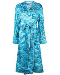 Marina Moscone - Belted Robe Coat - Lyst