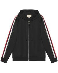 Gucci - Crystal Embroidered Jersey Sweatshirt - Lyst