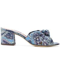 Etro - Paisley Print Sandals - Lyst