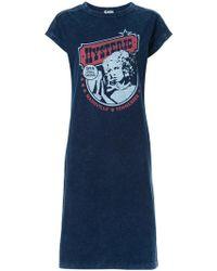 Hysteric Glamour - Logo Print T-shirt Dress - Lyst