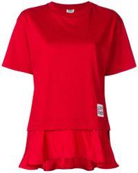 KENZO - Ruffled Hem T-shirt - Lyst